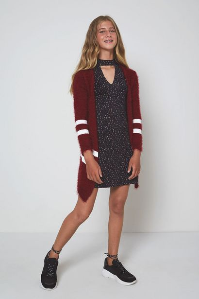 Oferta de Vestido Decote Est Geometrica por R$65