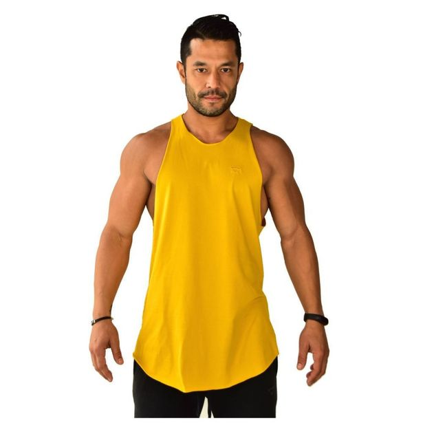 Oferta de Regata Longline Basics Brohood Amarelo por R$22,8