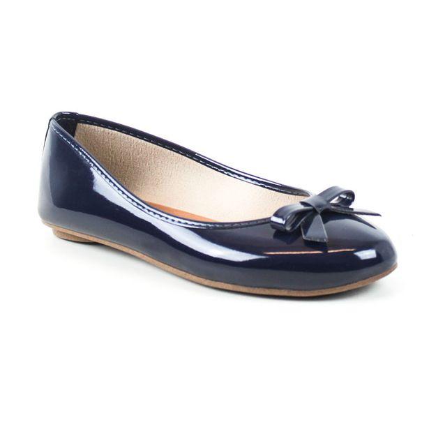 Oferta de Sapatilha Tag Shoes Verniz Laço Bico Redondo Macia Conforto por R$29,9