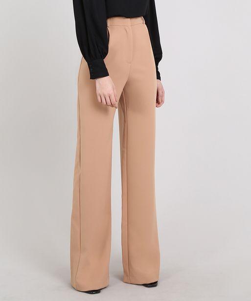 Oferta de Calça Feminina Mindset Pantalona Alfaiatada Bege por R$49,99