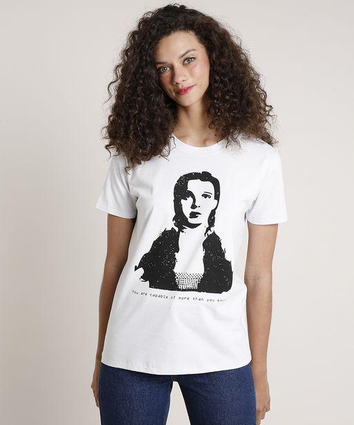 Oferta de T-Shirt Feminina Mindset Dorothy O Mágico de Oz Manga Curta Decote Redondo Cinza Claro por R$19,99