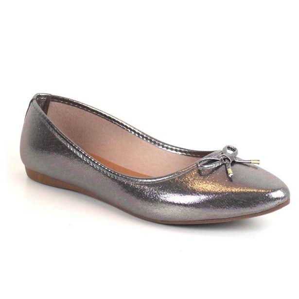 Oferta de Sapatilha Tag Shoes Metal Laço Bico Fino Lisa Dia a Dia por R$29,9