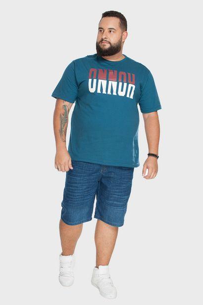 Oferta de Bermuda Amassada Plus Size por R$39,6