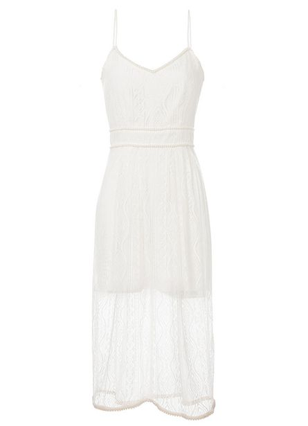 Oferta de Vestido Love Off White por R$226,5