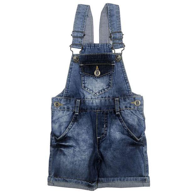 Oferta de Jardineira Look Jeans Curta Jeans por R$49,9