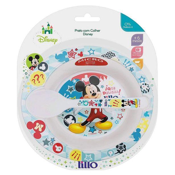 Oferta de Prato fundo com colher - Mickey Mouse LILLO DO BRASIL INDU por R$12