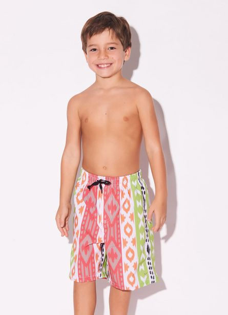 Oferta de Shorts Bambini Ikat Neon Mix por R$69