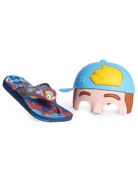 Oferta de Chinelo Infantil Grendene Luccas Neto Mask Super Flop por R$19,99