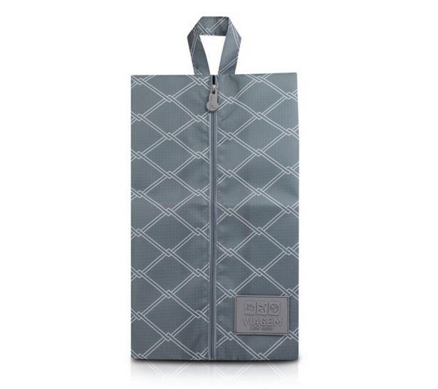 Oferta de Bolsa Porta-Sapato Jacki Design Cinza por R$15,3