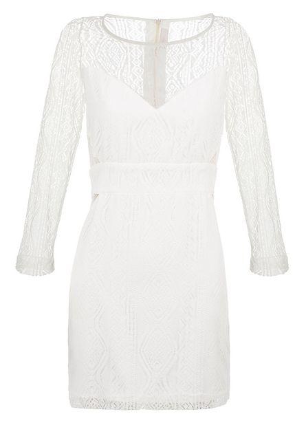 Oferta de Vestido Valen Off White por R$208,5