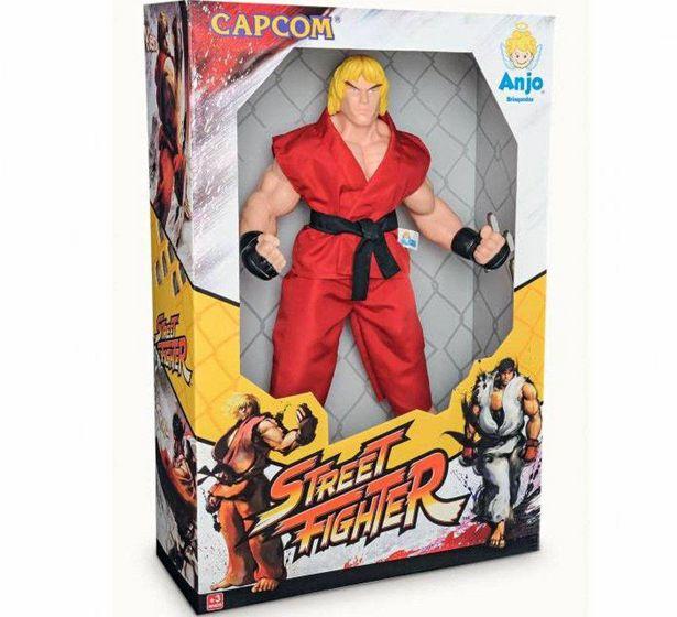 Oferta de Boneco -  Capcom - Street Fighter - 45 Centimetros - Ken ANJO por R$60