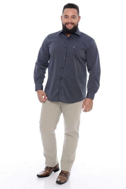 Oferta de Camisa Masculina Plus Size Baltazar por R$49,9