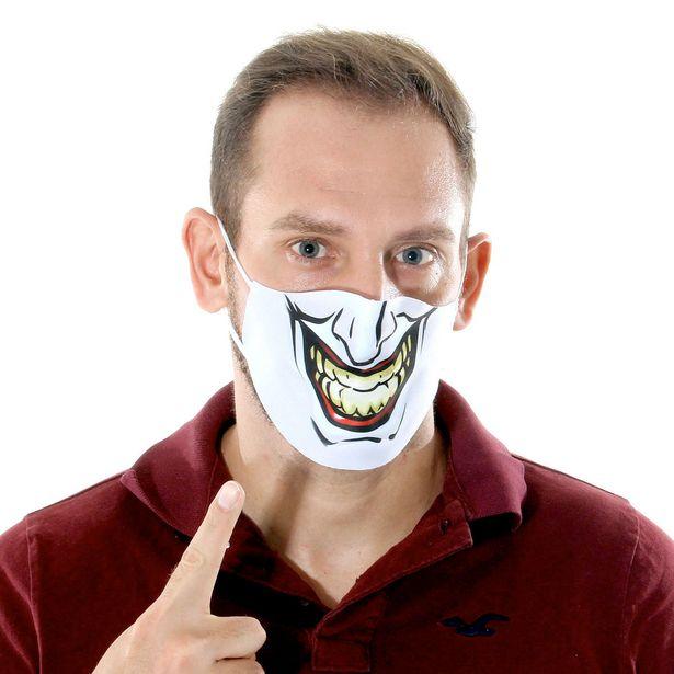 Oferta de Máscara de Tecido Lavável Dupla Camada Adulto - Coringa - Joker por R$4,99