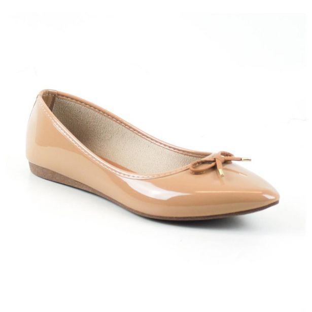 Oferta de Sapatilha Tag Shoes Verniz Bico Fino Laço Dia a Dia Conforto por R$29,9