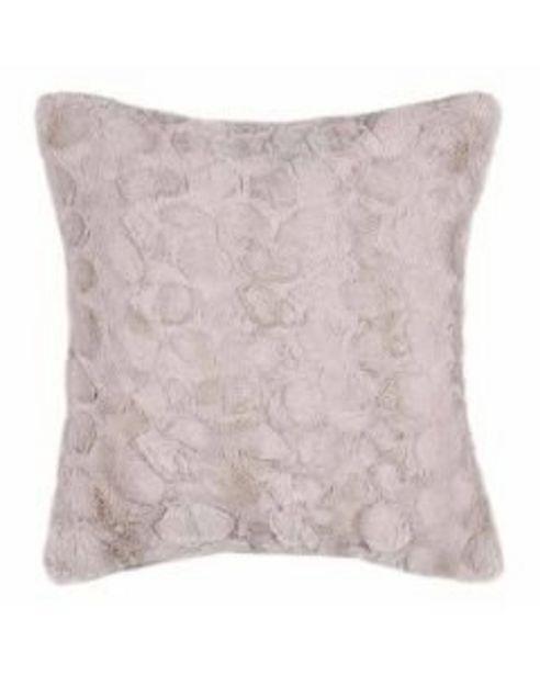 Oferta de Almofada Decorativa Fake Fur Beige Fur Casa Decora por R$29,99