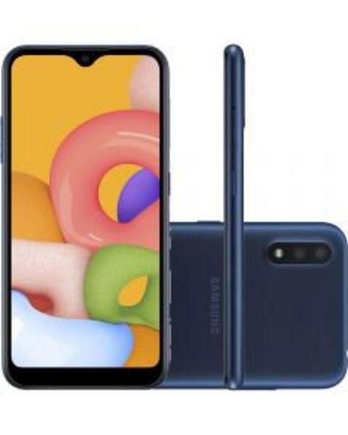 Oferta de Smartphone Samsung A01 32Gb 5.7' 2Gb Azul por R$899