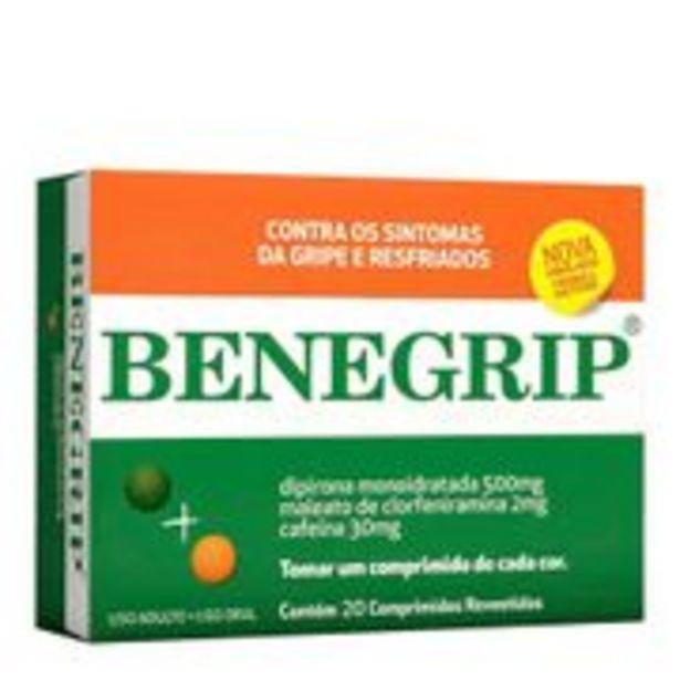 Oferta de Antigripal Benegrip 20 Comprimidos por R$24,9