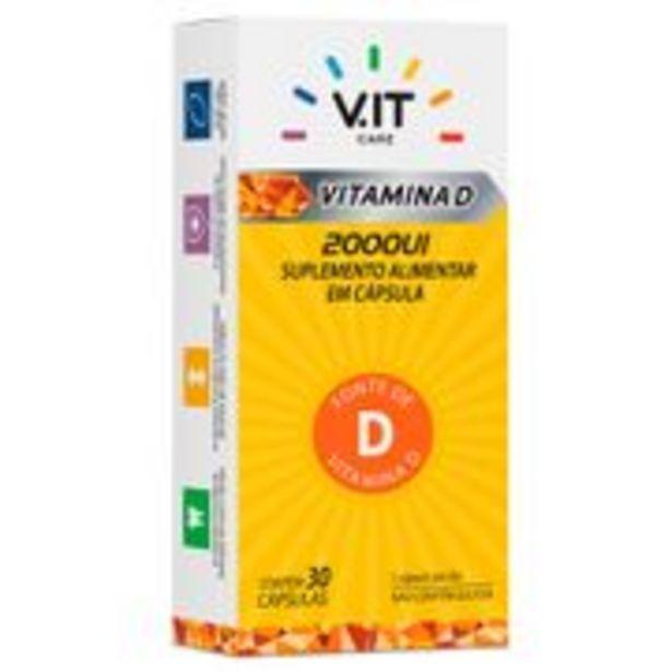 Oferta de V.IT CARE Vitamina D 2.000ui 30 Cápsulas por R$25,49