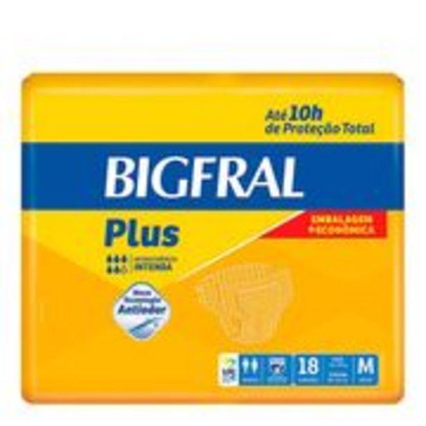 Oferta de Fralda Geriátrica Bigfral Plus Média 18 Unidades por R$43,55