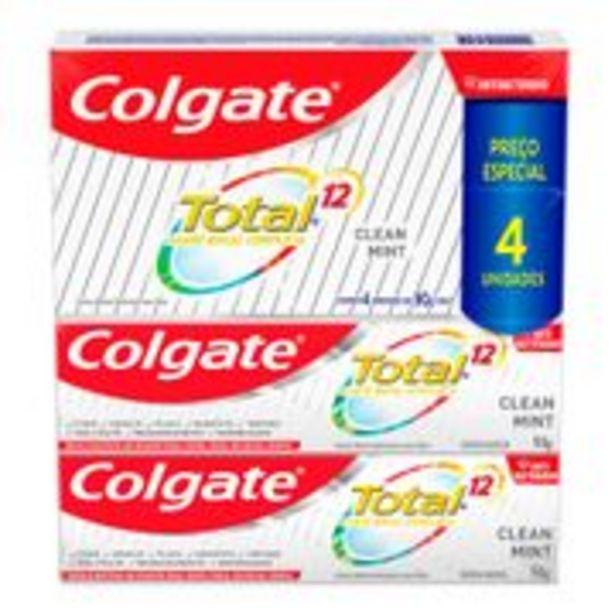 Oferta de Kit Creme Dental Colgate Total 12 Clean Mint 90g 4 Unidades por R$23,99