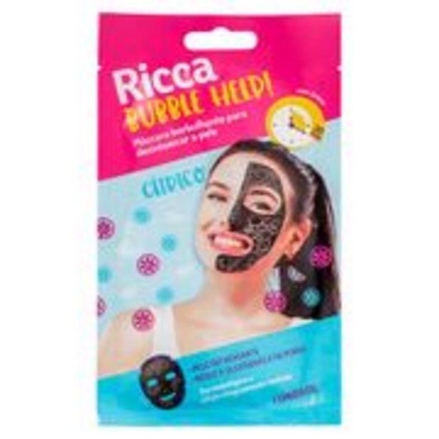Oferta de Máscara Facial Ricca Borbulhante Para Detox Da Pele Bubble Help! 28g por R$16,47