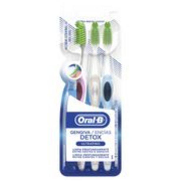 Oferta de Escova Dental Oral-B Detox Ultrafino 3 Unidades por R$21,99