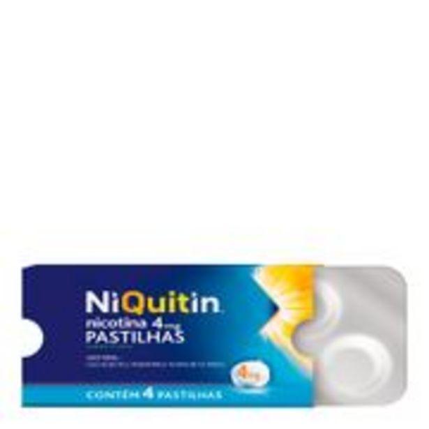 Oferta de Niquitin 4mg Menta 4 Pastilhas por R$8,99