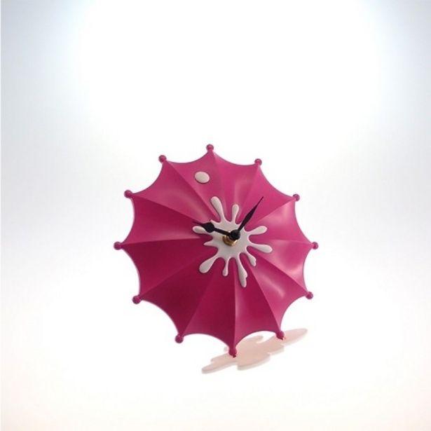 Oferta de Relógio De Mesa Guarda Chuva Rosa Pink Plástico 15x15 Cm por R$27,9