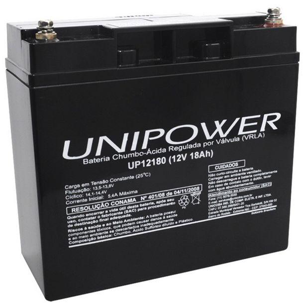 Oferta de Bateria Selada Para Nobreak - 12V / 18Ah - Unipower UP12180 por R$275,79