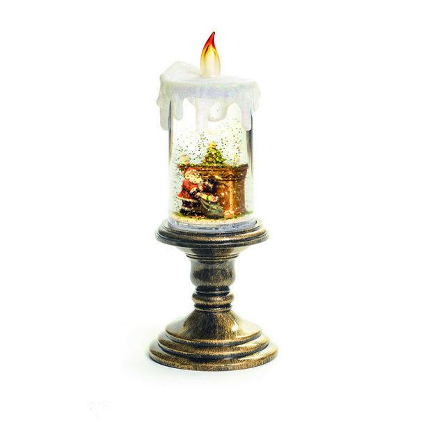 Oferta de Vela Decorativa De Natal Com Papai Noel Lareira 26Cm por R$289,9