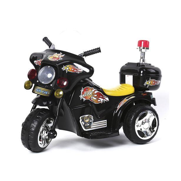 Oferta de Mini Moto Eletrica Infantil Policia 6V 18W Preta BW006PT Importway por R$503,41