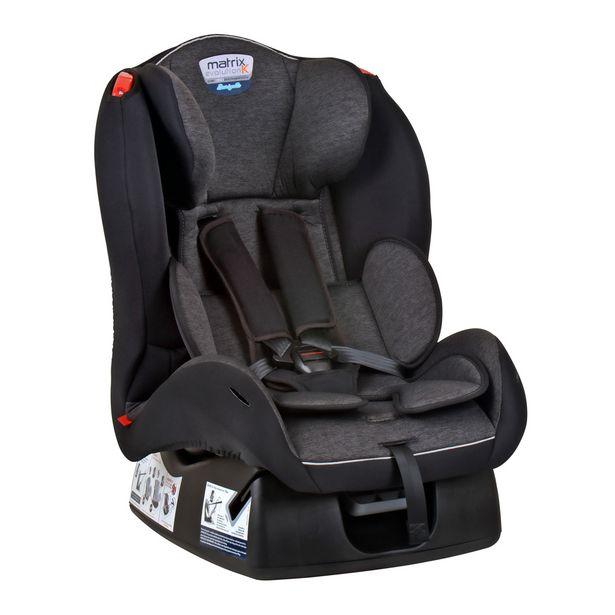 Oferta de Cadeira Para Auto Burigotto (até 25kg) Matrix Evolution K - Mesclado Preto por R$599,88