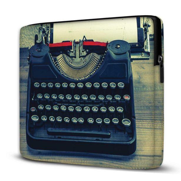 Oferta de Capa Para Notebook Máquina Escrever 15.6 E 17 Polegadas Com Bolso por R$77,94