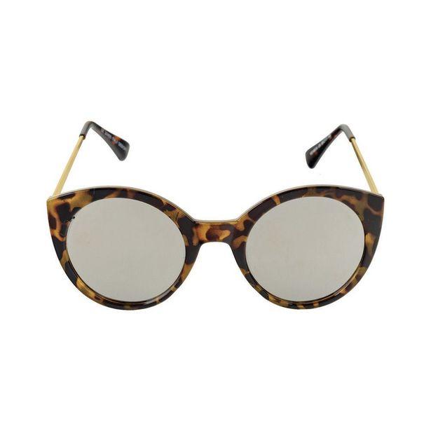 Oferta de Khatto Cat Eyes Tartaruga Com Lente Prata por R$69,9