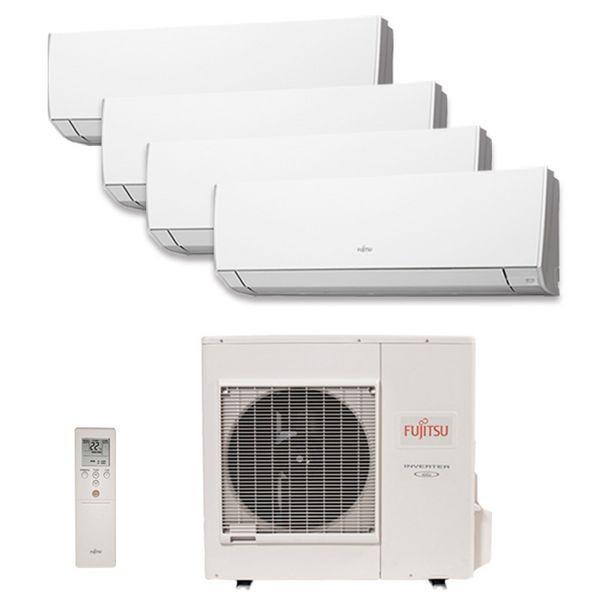 Oferta de Ar Condicionado Multi Quadri Split Hw Inverter Fujitsu 3X9000 1X12000 BTUS Quente/Frio 220V 1F AOBG30LAT4 por R$15699