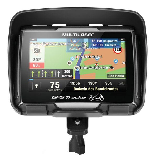 """Oferta de Navegador GPS Multilaser Tracker Para Moto Tela 4.3"""" e à Prova D'água - GP040 por R$589,39"""