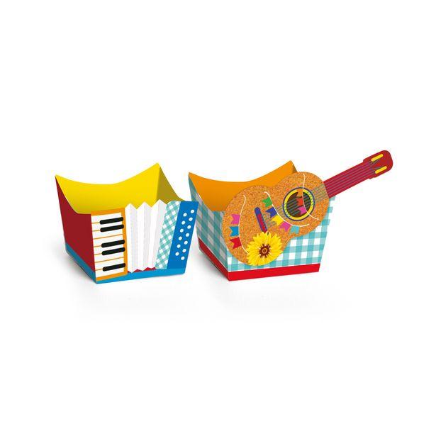 Oferta de 24 Forminha Cachepot Papel Doces Estampa Instrumentos 3x3cm por R$11,9