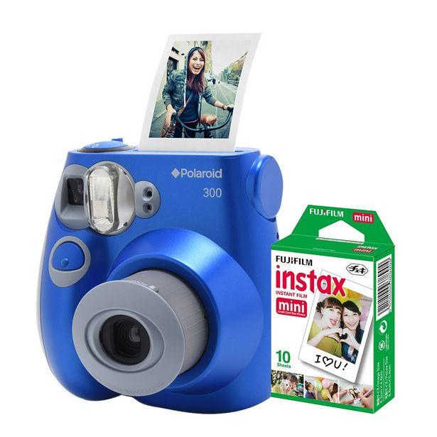 Oferta de Câmera Polaroid Instantânea PIC 300 Azul C/ Filme 10 Poses por R$729,9