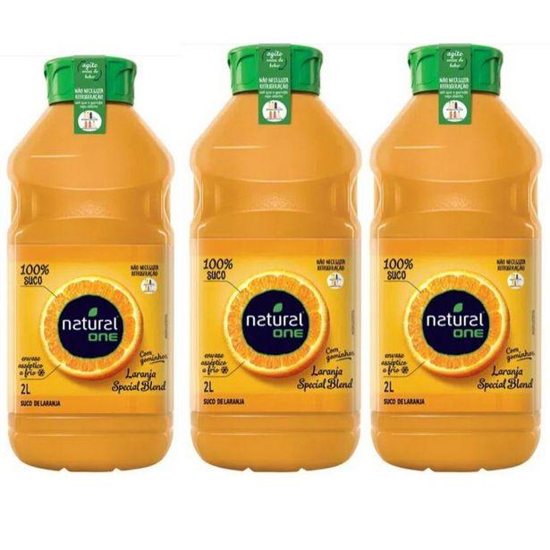 Oferta de Kit 03 Unidade Suco de Laranja Integral Natural One 100% Suco 2 Litros por R$64,99