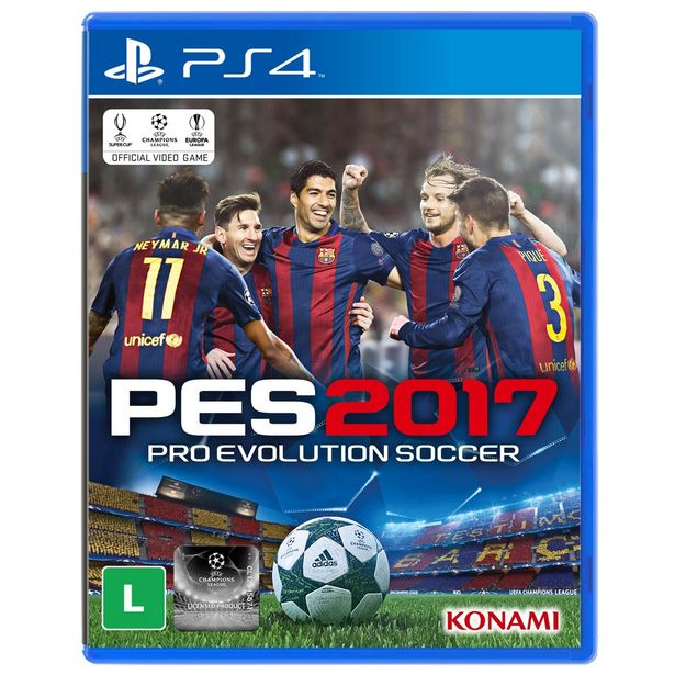 Oferta de Jogo Pro Evolution Soccer 2017 (PES 2017) Para Playstation 4 (PS4) - Konami por R$27,3