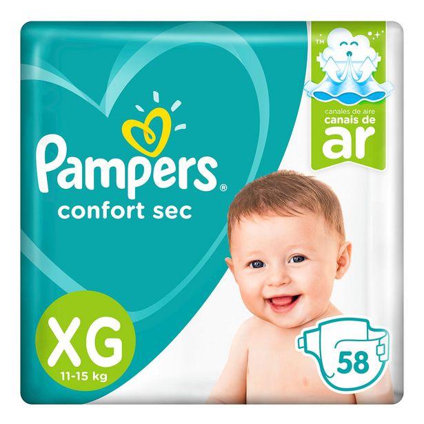 Oferta de Fralda Pampers XG Confort Sec Super 58 Unidades por R$76,99
