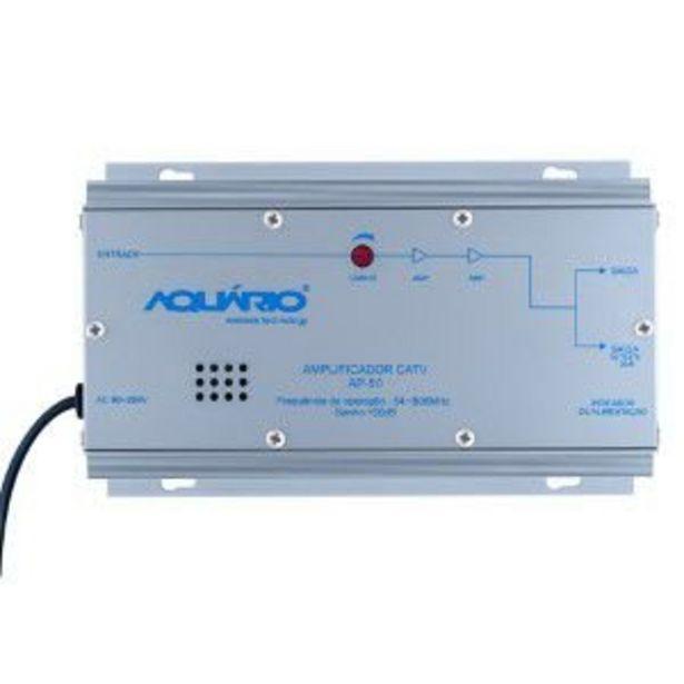 Oferta de Amplificador de Potencia Aquario AP-50 CATV 54-806MHZ 50DB por R$421,05