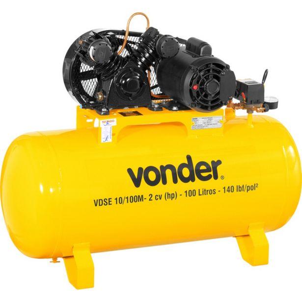Oferta de Compressor de Ar Baixa Pressão 10 Pés Monofásico - VDSE 10/100M - Vonder por R$2399,9