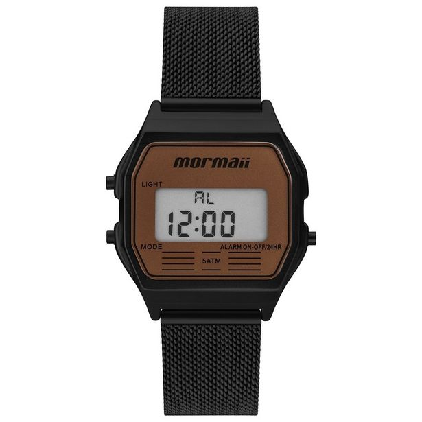 Oferta de Relógio Unissex Mormaii Vintage MOJH02BD/4L - Preto por R$229,9