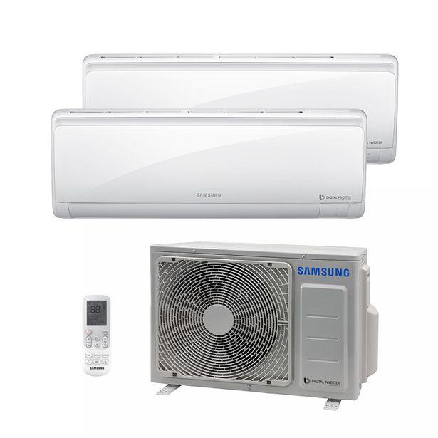 Oferta de Ar Condicionado Multi Bi Split Hw Inverter Samsung 1X9000 1X12000 Btus Quente/Frio 220V 1F AJ017NCJ2CH/AZ por R$5699