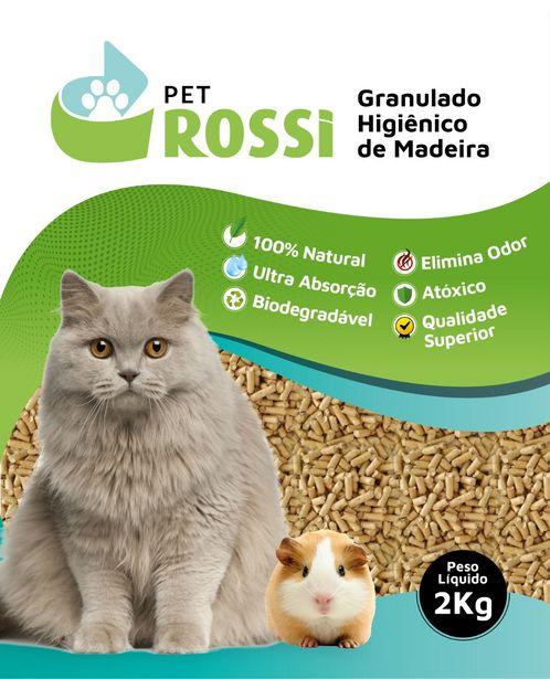 Oferta de Kit 05 Pacotes Pet Rossi Granulado de Madeira 2Kg por R$39,9