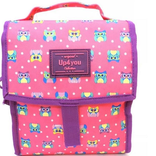 Oferta de Lancheira Coruja Luxcel LA51154UP-PK - Pink por R$68,9