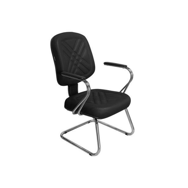 Oferta de Cadeira de Escritório Cromos PD-04SCBC Diretor Fixa Preta - Pethiflex por R$1039,9