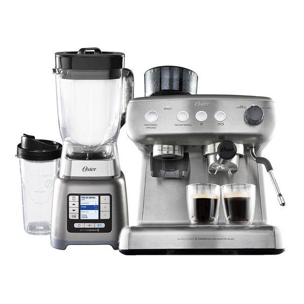 Oferta de Kit Liquidificador Active Sense e Cafeteira Espresso Oster por R$3699,9