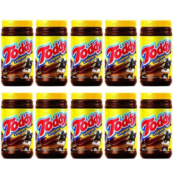 Oferta de Kit 10 Achocolatado Em Pó Toddy Chocolate Pote 400g por R$83,45